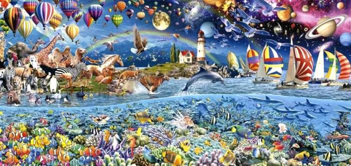 Пазлы Educa Пазл Жизнь фрагмент панорама 3000 деталей пазлы educa пазл амстердам 3000 элементов