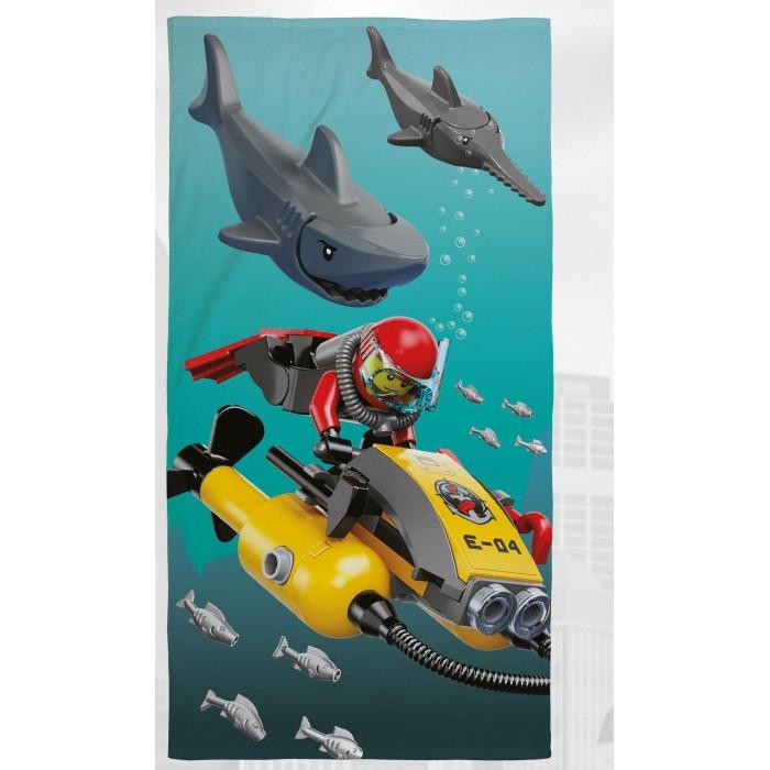 Купание малыша , Полотенца Lego Полотенце city shark 70х140 арт: 317089 -  Полотенца
