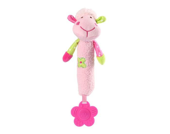 Мягкие игрушки BabyOno с пищалкой Овечка babyono развивающая игрушка гимнастика малыша