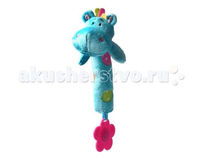 Развивающие игрушки BabyOno с пищалкой Бегемотик babyono развивающая игрушка гимнастика малыша