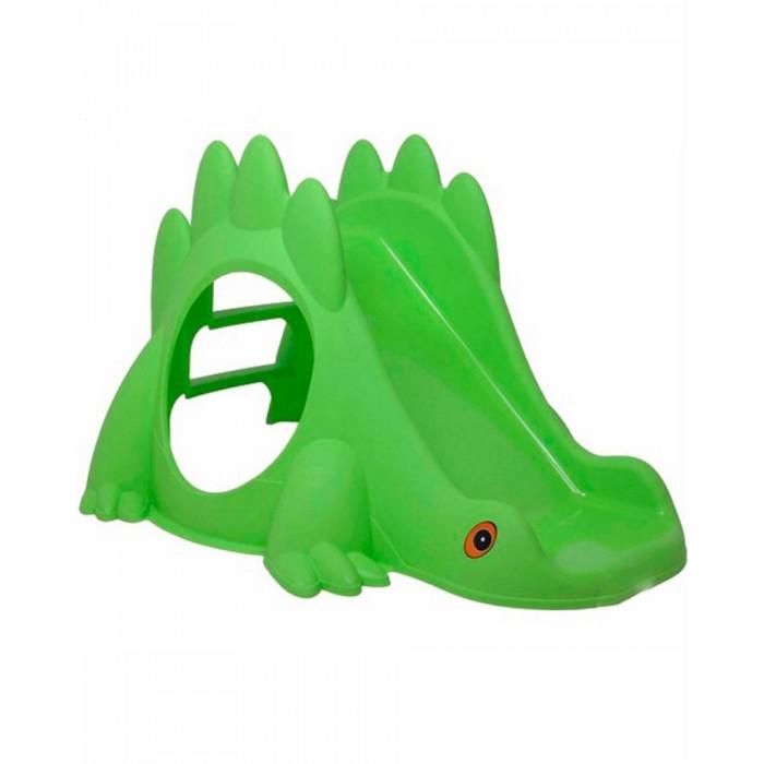 Горка Paradiso Горка ДинозаврГорка ДинозаврParadiso Горка Динозавр стоит на четырех крепких лапах, для безопасности катания предусморен удобный изгиб для плавного замедления, а также невысокие бортики по краям спуска в виде округлых шипов на спине динозавра.  Внутри расположен уютный домик с двумя окошками.  Горку можно использовать и на улице, и дома.  Особенности: удобные ступеньки устойчиво стоит на четырех опорах, выполненных в виде лапок милые глазки в передней части пластиковой горки придают Динозавру реалистичности шипы на спине выполняют роль ручек, за которые удобно держаться поверхность горки Парадизо очень гладкая, по ней легко съезжать вниз зеленый цвет благотворно влияет на зрение ребенка если накрыть большим одеялом, горка превращается в уютный домик с круглым входом Размеры: 115 х 91.5 х 68 см<br>