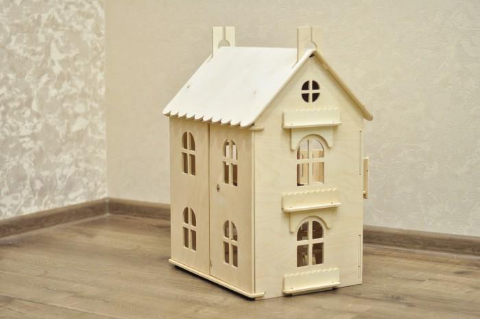 Wood lines Кукольный домик АринаКукольный домик АринаWood line Кукольный домик Арина представляет собой 38 фанерных деталей.   Из них ребенку предлагается собрать замечательный деревянный домик, с которым можно разыгрывать всевозможные сюжеты, определив хозяев.   Крепежная система деталей не требует склеивания, однако для игровой способности некоторые области рекомендуется промазать клеем, в чем может помочь ребенку взрослый человек.   Детали домика сделаны из отлично отшлифованной безопасной древесины.  Размер собранного домика: 60 х 40 х 44 см.<br>