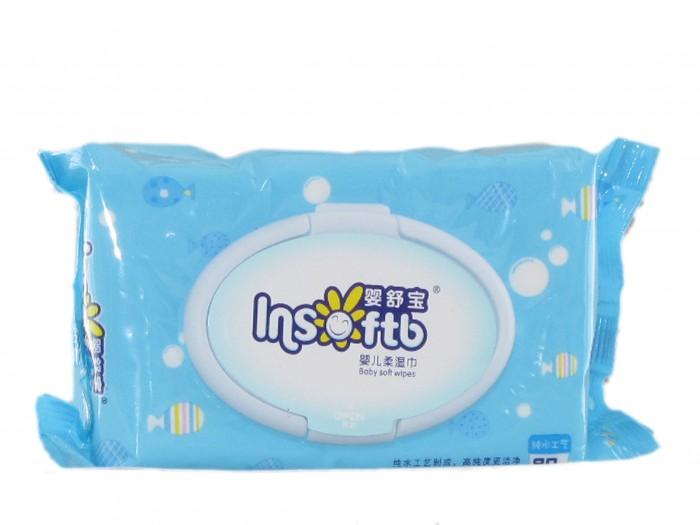 Салфетки Insoftb Влажные салфетки детские без запаха 80 шт. поглотитель запаха для холодильников selena