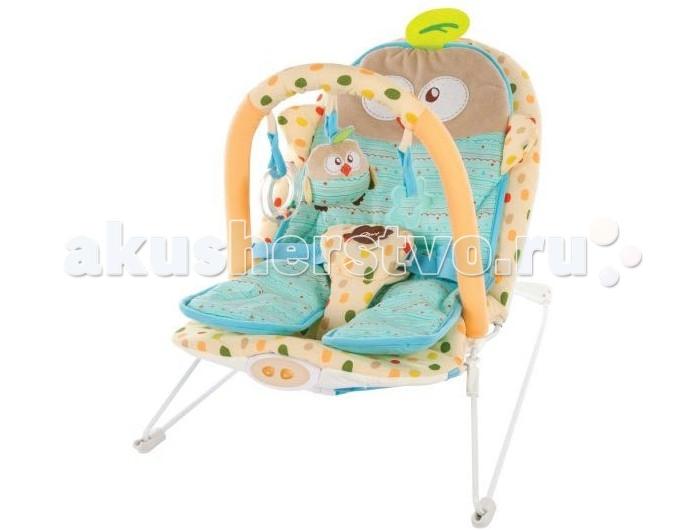 Жирафики Детское кресло-качалка СовенокДетское кресло-качалка СовенокЖирафики Детское кресло-качалка Совенок с анатомической вкладкой, 3-мя развивающими игрушками, вибрацией и музыкой создан для младенцев. Этот замечательный шезлонг родители малыша оценят по достоинству, а ребенку в нем будет комфортно и интересно.  Кресло-качалка вполне устойчиво и комфортабельно. Матрас, выполненный в форме веселого пингвина, эргономичный, повторяет формы ребенка и распределяет центр тяжести, что важно для крепкого сна и безвредно для неокрепшего позвоночника карапуза.   Сам шезлонг оснащен ремнем безопасности, чтобы даже самый активный малыш был огражден от возможности падения. Кроме того, кресло снабжено приятной колыбельной музыкой и веселыми погремушками.<br>