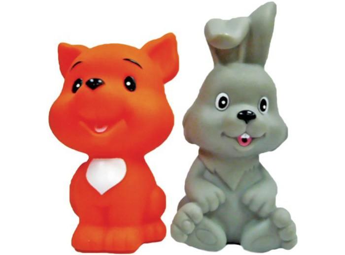 Игрушки для ванны Жирафики Набор для купания Лисёнок и зайчонок витраж из пластилина набор 1 зайчонок и лягушонок