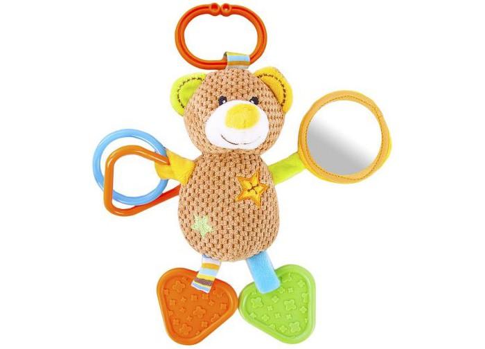 Погремушки Жирафики Подвеска Мишка Вилли с прорезывателем weewise безопасное детское зеркальце в автомобиль мишка