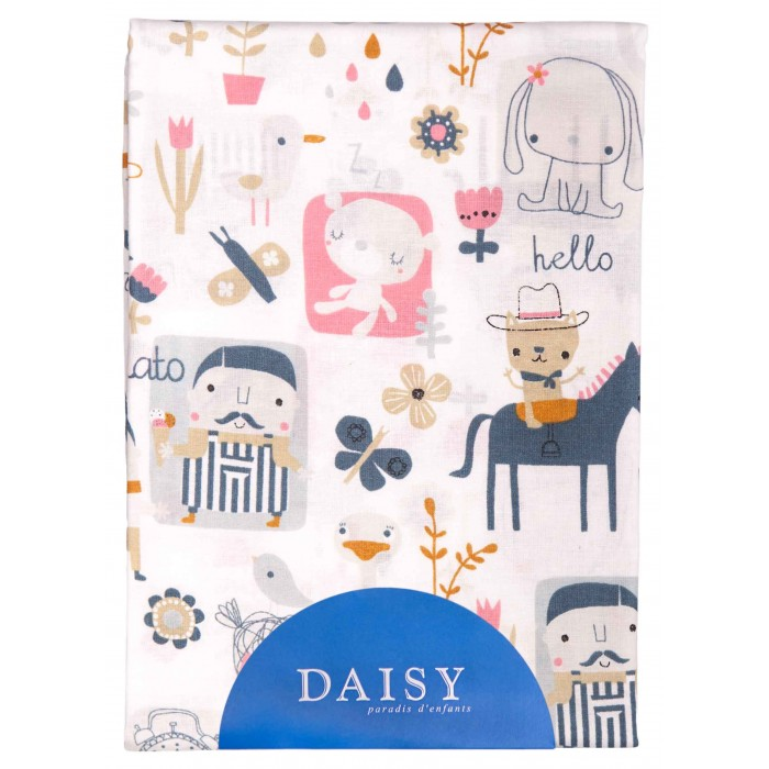 Простыни Daisy Простыня на резинке Лошадки 60х120 простыни daisy простыня на резинке мультяшки 60х120