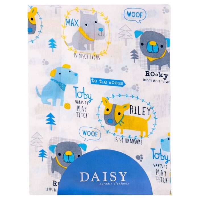 Простыни Daisy Простыня на резинке Собачки 60х120 простыни daisy простыня на резинке мультяшки 60х120
