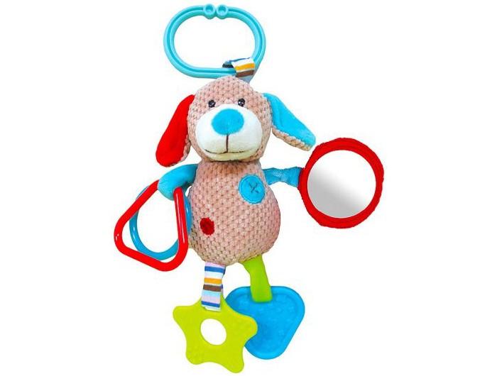 Погремушки Жирафики Подвеска Собачка Билли с прорезывателем жирафики игрушка подвеска собачка