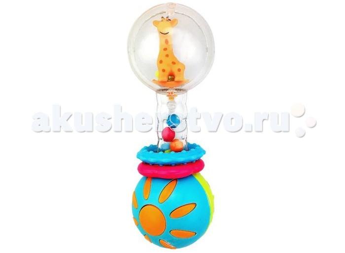Погремушки Жирафики Звонкая гантелька Жирафик погремушки жирафики набор автобус и кораблик