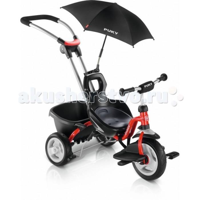 Велосипед трехколесный Puky CAT S2 CeetyCAT S2 CeetyТрехколесный велосипед Puky CAT S2 Ceety – стильный, комфортный и функциональный трехколесный велосипед с родительской ручкой для детей от 2 до 4 лет.  Трехколесные велосипеды PUKY® производятся только в Германии с 1949 года, чем обеспечивается их гарантированно высокое качество. Их дизайн и эргономика продуманы до мелочей, поэтому ребенку легче всего начинать кататься на Puky.  Особенности: Трехколесный велосипед Puky CAT S2 Ceety - это облегченная версия самого продвинутого велосипеда Puky CAT S6 Ceety для более взрослых детей от 2 до 4 лет.  Широкая колесная база и пониженный центр тяжести обеспечивают велосипеду максимальную устойчивость на дороге. Благодаря миниатюрной геометрии и близкому расположению педалей, ребенок может самостоятельно управлять велосипедом уже с 2 лет.  Родительская ручка не поворотная, зато абсолютно надежная. Поворот велосипеда осуществляется при наклоне его с помощью ручки назад. Надежность ручки позволяет выполнять такие маневры безо всяких усилий. Родительская ручка с удобной рукояткой регулируется по углу наклона с помощью надежного узла и легко снимается.    Трехколесный велосипед Puky CAT S2 Ceety имеет премиальные безвоздушные литые шины (мягкий ПВХ) с плавным и бесшумным ходом. Можно установить свободный ход вращения рулевого колеса, заблокировать руль или ограничить угол поворота руля.   Для ребенка есть специальный ручной тормоз с эргономичной ручкой. Чтобы остановиться, нужно просто потянуть ручку тормоза на себя. В комплекте поставки: объемный черный кузов-самосвал с фиксатором, эргономичная подставка для ножек.   Модель Puky CAT S2 Ceety 2016 года значительно улучшена:  - Новая эргономичная, более округлая форма сиденья - Новые увеличенные педали - Увеличена надежность и безопасность родительской ручки (не телескопическая)  - Новая эргономичная рукоятка тормоза - Увеличенный кузов-самосвал - Новая эргономичная подставка для ног DF-1 - Поставляется с зонтиком от солнца  Особ