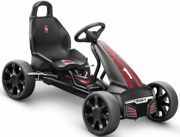 Puky Веломобиль F550Веломобиль F550Детская педальная машина Puky F550 - прекрасная уличная машина для детей, которая может послужить как альтернативой велосипеду, так и использоваться наравне с ним. Абсолютно уникальный и неповторимый дизайн (дизайнеры учли современные формы настоящих автомобилей) и повышенная безопасность характеризуют эту первоклассную модель.   Немецкие производители применили в F550 уникальную конструкцию, обеспечивающую машинке практически идеальную устойчивость, что самым лучшим образом сказалось на ее безопасности. Свободный переход с переднего на задний ход без коробки передач, чтобы ребенок не убирал руки с руля и не отвлекался от дороги.    Для детей: от 4 до 7 лет вес до 50 кг рост: от 105 см длина ноги: от 65 см - 95 см   Характеристики: Колеса: литые, прорезиненные на шарикоподшипниках (не нуждаются в подкачке, не боятся проколов) &#216;266х80 мм  Рама: высокопрочная стальная, со специальным износостойким покрытием, которое не выгорает на солнце и устойчиво к повреждениям Сидение: с быстрой регулировкой под рост ребенка, эргономичное пластмассовое с шероховатым покрытием против соскальзывания Тормоза: ручной тормоз на оба задних колеса Регулируемое натяжение цепи, привода задних колес Защита цепи Спортивный руль с сигналом Спойлер с обтекаемым современным дизайном, защитный бампер Автоматический свободный ход педалей вперед и назад Вес: 15.7 кг<br>