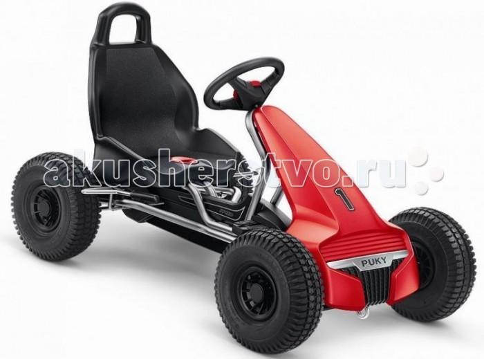 Puky F550 LF550 LДетская педальная машина Puky F550L - это настоящее чудо детской техники от популярного бренда. Для подлинного комфорта при передвижении эта модель оборудована настоящими спортивными колесами широкого профиля, что обеспечивает не только мягкость езды, но и дополнительную безопасность (лучшее сцепление с дорожным покрытием). Машинка оборудована ручным тормозом, что тоже относиться к повышенной безопасности.  Данная модель имеет низкую посадку, что значительно повышает устойчивость на поворотах и обеспечивает дополнительную безопасность Вашему гонщику. Еще одна особенность Puky F 550 L - это свободный переход с переднего на задний ход без коробки передач, чтобы ребенок не убирал руки с руля и не отвлекался от дороги.   Для детей: от 4 до 7 лет вес до 50 кг рост: от 105 см длина ноги: от 65 см - 95 см   Характеристики: Колеса: пневматические колеса на шарикоподшипниках &#216;266х80 мм  Рама: высокопрочная стальная, со специальным износостойким покрытием, которое не выгорает на солнце и устойчиво к повреждениям Сидение: с быстрой регулировкой под рост ребенка, эргономичное пластмассовое с шероховатым покрытием против соскальзывания Тормоза: ручной тормоз на оба задних колеса Регулируемое натяжение цепи, привода задних колес Защита цепи Спортивный руль с сигналом Спойлер с обтекаемым современным дизайном, защитный бампер Автоматический свободный ход педалей вперед и назад Вес: 16.1 кг<br>
