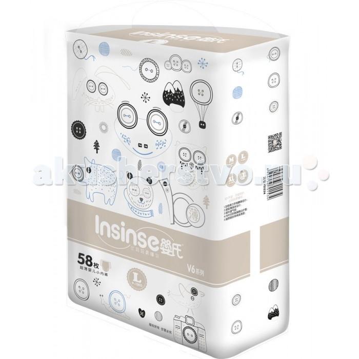 Подгузники-трусики Insinse Подгузники V6 трусики L (9-13 кг) 58 шт. супертонкие