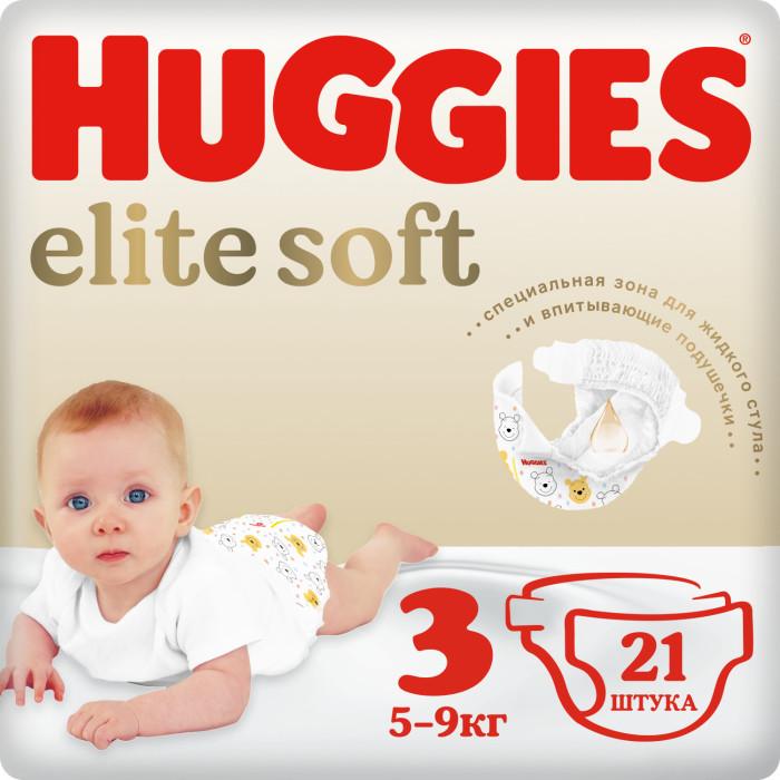 Фото Подгузники Huggies Подгузники Elite Soft 3 (5-9 кг) 21 шт.