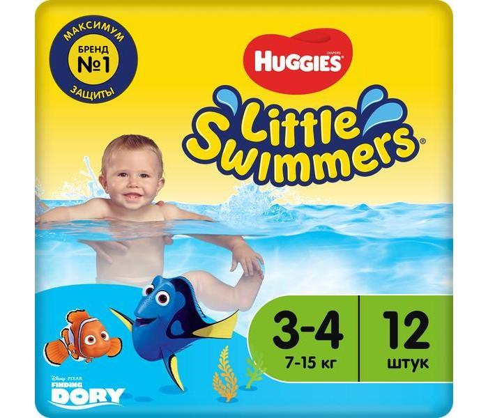 Подгузники Huggies Трусики-подгузники для плавания 3-4 (7-15 кг) 12 шт. куплю air swimmers в москве