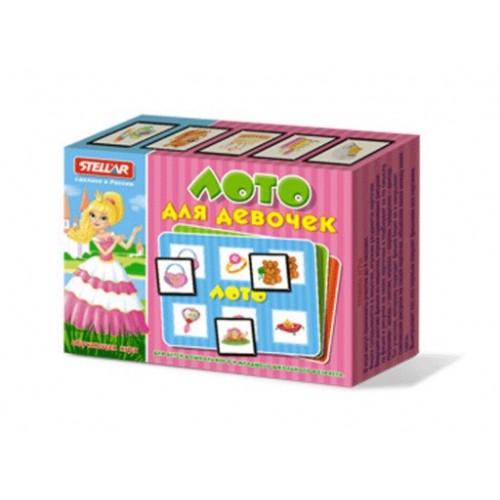 Настольные игры Стеллар Лото для девочек тактильное лото животные