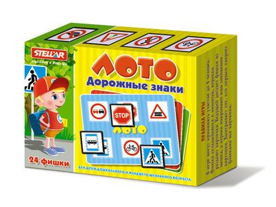 настольная игра лото для детей дорожные знаки 01456 Настольные игры Стеллар Лото Дорожные знаки
