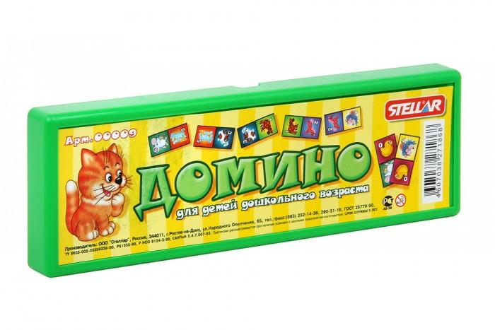 Настольные игры Стеллар Домино в футляре стеллар домино обитатели леса стеллар