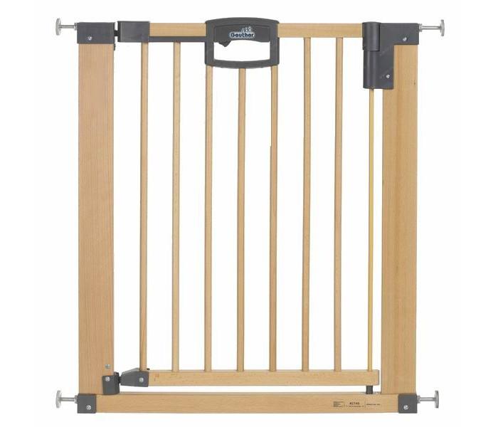Geuther Ворота безопасности Easylock Natural 68.5-76.5 смВорота безопасности Easylock Natural 68.5-76.5 смEasy Lock Natural устанавливает границы, не оставляя следов! Благодаря защитной калитке Easy Lock Вы всегда на шаг впереди опасности: Вы можете быстро оградить опасные зоны, например, лестницы, не используя дрель!  Характеристики: изготовлены из дерева высочайшего качества - массив бука красивый дизайн и натуральный цвет украсят интерьер любого дома устойчивы, имеют опорное основание удобный механизм защелкивания, легко устанавливаются без специального крепления при установке не требуется дрель или инструменты, после демонтажа не оставляют следов на стенах защищает ребёнка от нежелательного прохода через дверной проём или падения с лестницы уникальный защитный механизм позволит взрослому легко пройти через ворота, создавая в то же время непреодолимое препятствие для малыша открывается в обоих направлениях для удобства перемещения ворота оснащены специальным порогом с защитой от скольжения если вам нужно переместить ворота в другой дверной проём по мере роста ребёнка вы можете сделать это без ущерба для ремонта в квартире или доме  Размеры 68.5-76.5х82.5 см<br>