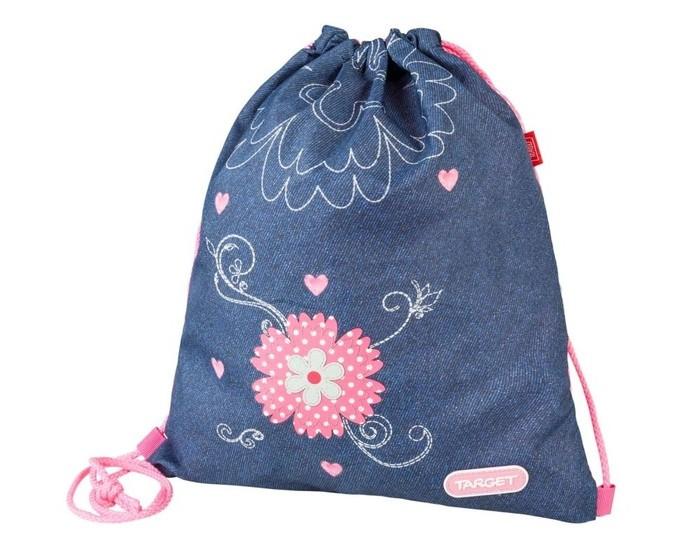 Школьные рюкзаки Target Collection Сумка для детской сменной обуви Джинсовые цветы