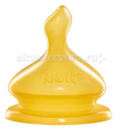 Соски Nuk латексная First Choice с воздушным клапаном, размер 1 (М) для молока насадка для поильника nuk first choice латексная