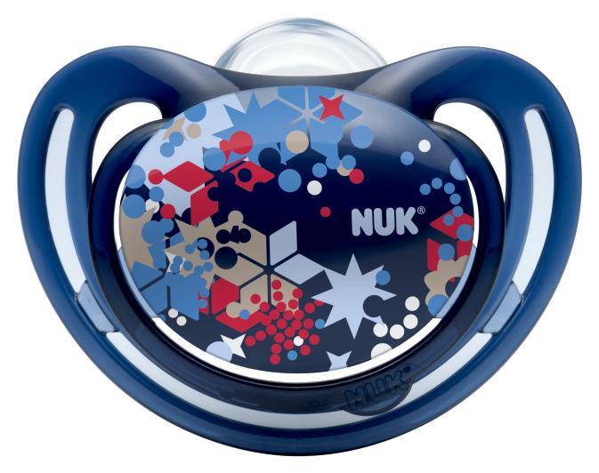 Пустышка Nuk ортодонтическая силиконовая для сна FreeStyle размер 3 (с 18 мес.) 2 шт