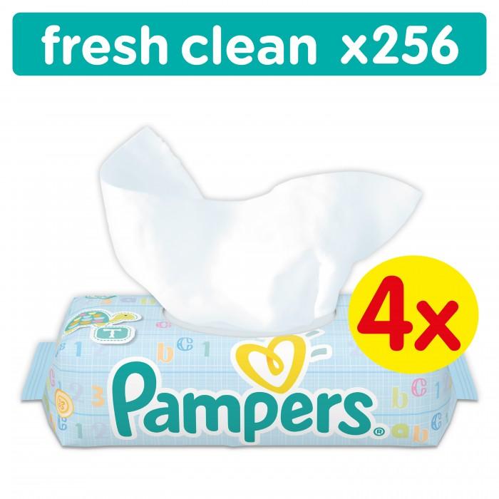 Салфетки Pampers Детские влажные салфетки Baby Fresh Clean 256 шт. carefree carefree салфетки plus large fresh ароматизированные 36 шт