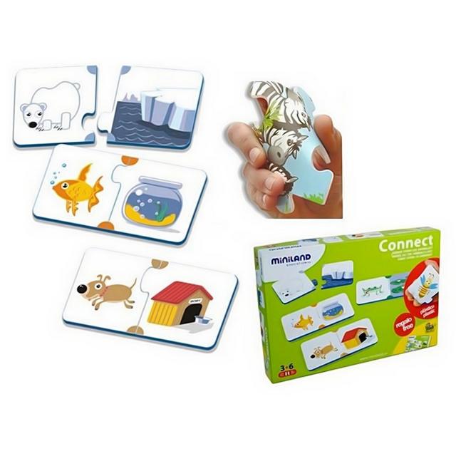 Развивающая игрушка Miniland Развивающее лото Кто где живет?