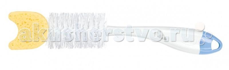 Аксессуары для бутылочек и поильников Nuk Ёршик для мытья бутылочек 2 в 1 с губкой подогреватель детских бутылочек nuk термо рапид