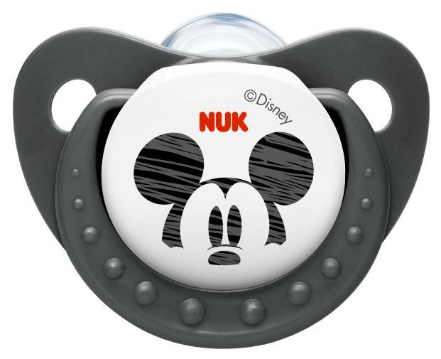 Пустышки Nuk ортодонтическая силиконовая Trendline Disney Mickey, размер 2 (6-18 мес.) нук пустышка trendline disney силиконовая р 2