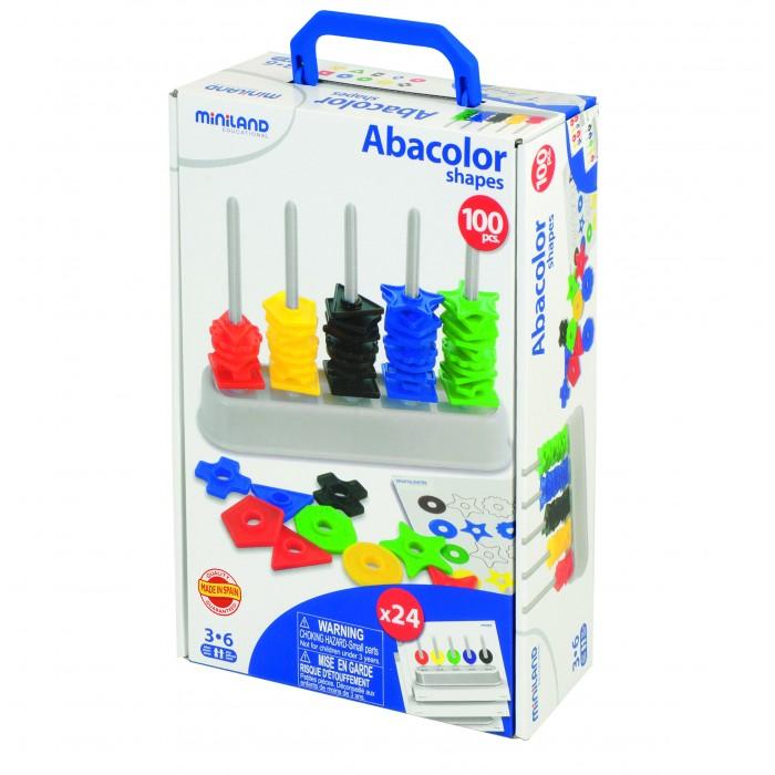 Развивающая игрушка Miniland Обучающий набор Цветной счет 100 деталей