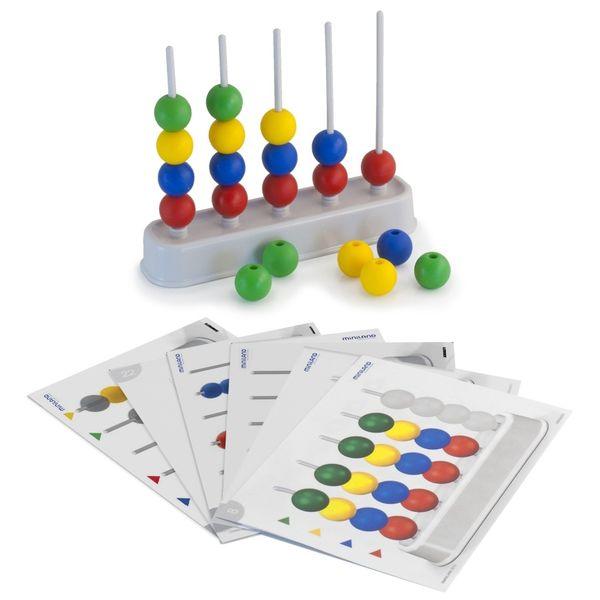 Развивающая игрушка Miniland Обучающий набор Abacolor с бусинами 28 деталейОбучающий набор Abacolor с бусинами 28 деталейAbacus состоит из 5 колонок и множества разноцветных шаров. Благодаря этой игрушке ребенок быстрее научится считать, а так же различать цвета. Набор способствует развитию мелкой моторики рук, и повышает уровень концентрированности ребенка.  Особенности: Abacus ширина 21 CMS. 24 листов 28 шаров Упакованные в удобном чехле с ручкой   Рекомендуемый возраст 3-6 лет<br>