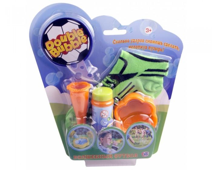 Мыльные пузыри HTI Набор для пускания мыльных пузырей Double Bubble Волшебный футбол мыльные пузыри hti набор для пускания мыльных пузырей с бутылкой 125 мл
