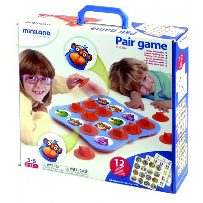 Miniland Обучающая игра MemoryОбучающая игра MemoryОбучающая игра Memory – прекрасный помощник воспитателей и родителей. Она отлично развивает память и внимание, а также позволяет распознавать предметы.   Наличие специальных крышек позволяет тренировать движение захвата. Ребенок может играть в одиночку либо участвовать в групповом занятии.   Комплектация: доска и 12 карточек с изображениями представителей животного мира, 12 крышек с держателями.<br>