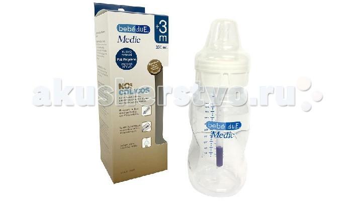 Аксессуары для кормления , Бутылочки Bebe Due Детская полипропиленовая с суперантиколиковой системой и термодатчиком Medic 330 мл арт: 326759 -  Бутылочки