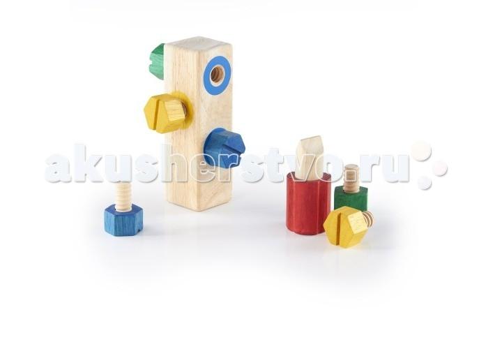 Деревянные игрушки Guidecraft Block Play Сортер Screw - Блок с винтиками деревянные игрушки guidecraft сортер пирамидка sensory сенсорные блоки