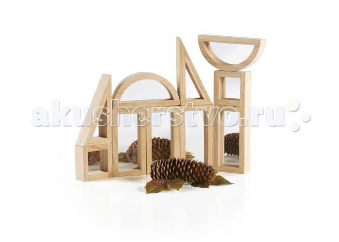 Деревянные игрушки Guidecraft Сортер Rainbow Blocks - Зеркальные блоки набор 10 деталей