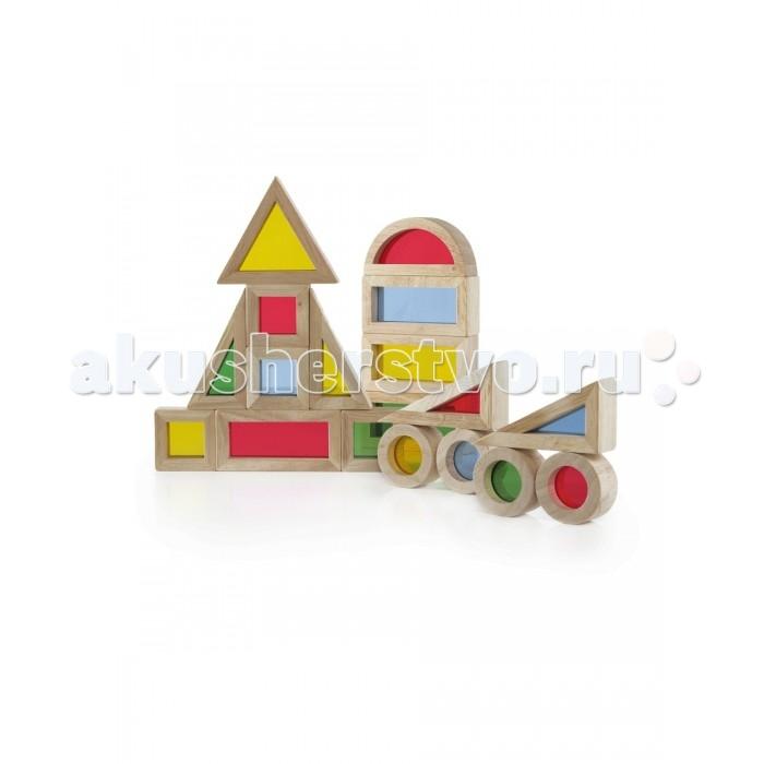 Деревянные игрушки Guidecraft Сортер Jr. Rainbow Blocks - Радужные блоки мини набор 20 деталей