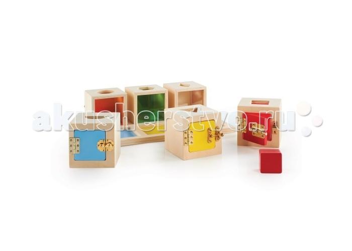 Деревянные игрушки Guidecraft Сортер Запирающиеся коробочки Пикабу, Деревянные игрушки - артикул:327004