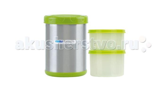 Аксессуары для кормления , Термосы Bebe Due 1100 мл с двумя резервуарами 300 и 400 мл арт: 327404 -  Термосы