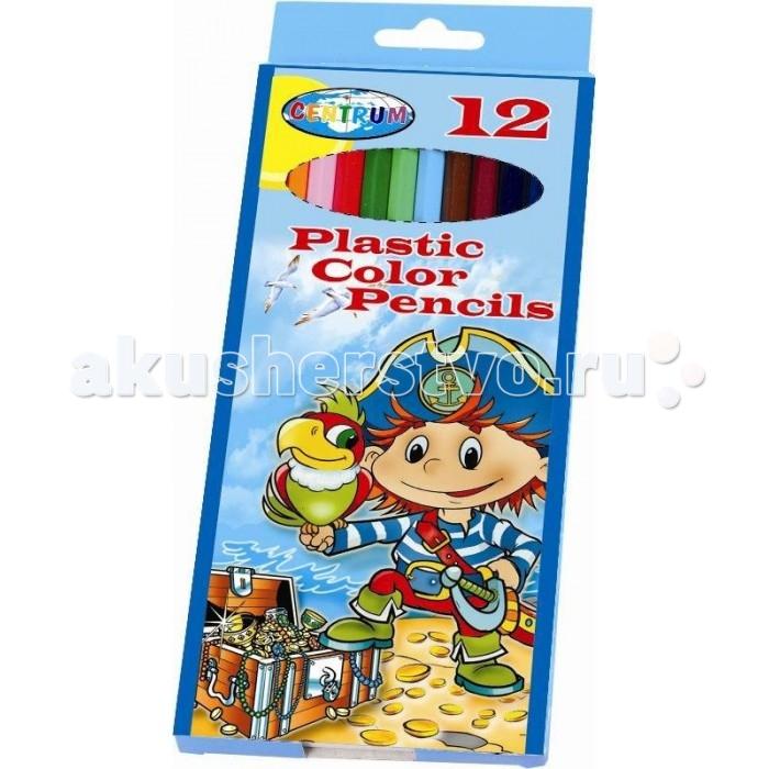 Карандаши, восковые мелки, пастель Centrum Цветные карандаши Пират 12 цветов мелки восковые выкручивающиеся 12цв centrum тролли