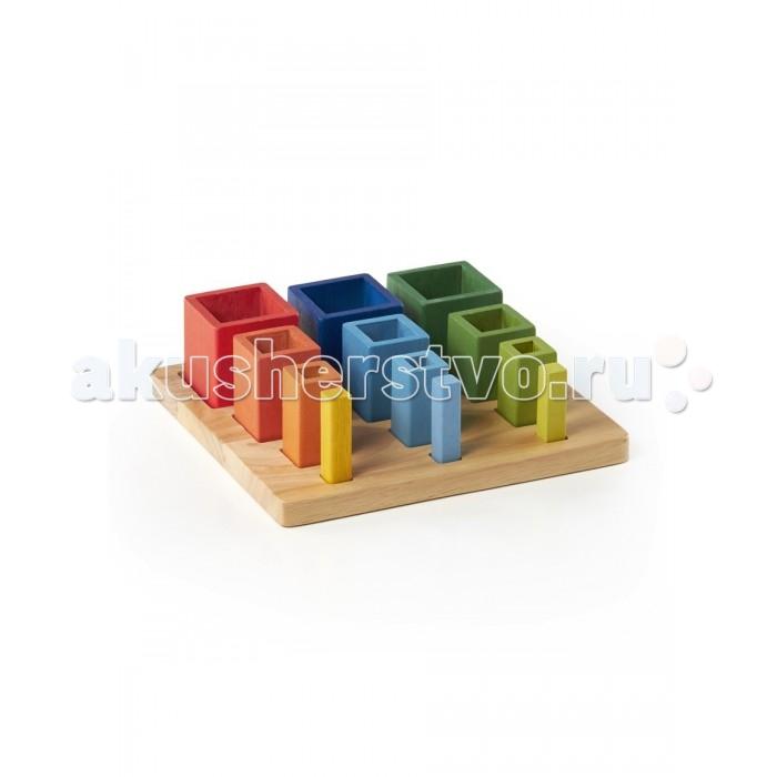 Деревянные игрушки Guidecraft Сортер пирамидка Nest & Stack Cubes Составляй и вставляй Кубы диляра тасбулатова у кого в россии больше