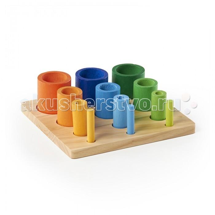 Деревянные игрушки Guidecraft Сортер пирамидка Nest & Stack Cubes Составляй и вставляй Цилиндры диляра тасбулатова у кого в россии больше