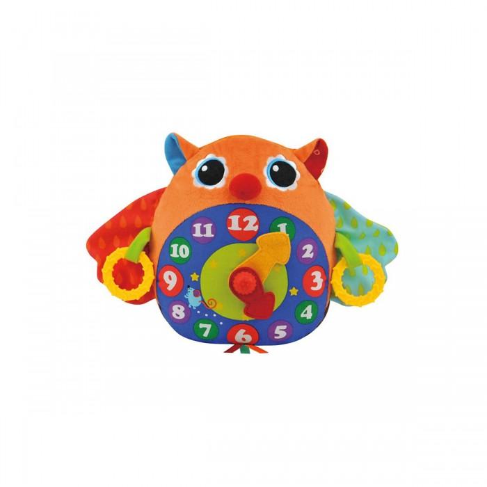 Развивающая игрушка KS Kids Часы-СоваРазвивающие игрушки<br>Музыкальная Сова-часы из разнофактурного материала с шуршалками и щёлкающим механизмом.   Если потянуть одновременно за кольца слева и справа, то раздастся мелодия с тиканьем часов, всего 3 мелодии.   Поможет выучить время.   Размер (шхвхд) 35х23х13 см Материал: ткань(65% полиэстер, 35% хлопок), электронные компоненты.