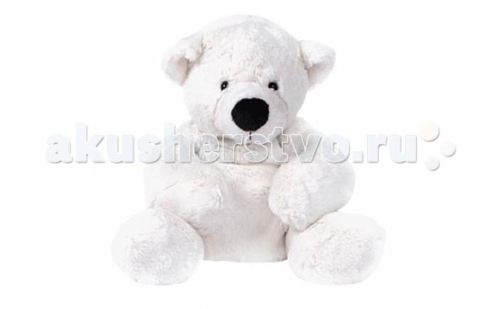 Мягкие игрушки Gulliver Медведь белый, лежачий 43 см