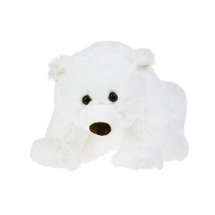 Мягкие игрушки Gulliver Медведь белый, лежачий 23 см