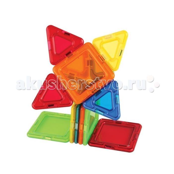 Конструктор Magformers Магнитный Window Plus Set (40 деталей)Магнитный Window Plus Set (40 деталей)Magformers Магнитный конструктор Window Plus Set 40 set - это развивающий магнитный конструктор нового поколения для всей семьи предлагает вам интересное сочетание обычных квадратов, треугольников и деталей с прозрачными окошками. Из имеющихся деталей можно собрать множество интересных, необычных моделей: детали со сплошным центром дают дополнительный простор для творчества! Многоэтажные дома с потолками и окнами, волшебные замки с прозрачными окошками – с детская фантазия безгранична!  Магниты укреплены внутри деталей особым образом, который позволяет им поворачиваться друг к другу нужной стороной. В результате детали всегда притягиваются, и строить из них легко и удобно. В конструкторе используются самые сильные в мире неодимовые магниты, они повышают прочность построек.  Конструктор обладает уникальным развивающим потенциалом и подходит для игры и занятий с самого раннего возраста. Конструктор развивает интеллект и воображение ребенка, математические способности и логику, память и внимание. Работа с деталями улучшает мелкую моторику, а постройка объемных фигур развивает пространственное и абстрактное мышление. Возможности для раскрытия творческих способностей ребенка с Магформерс практически безграничны: из магнитных деталей можно собрать самые невероятные и фантастические модели.  Детали конструктора изготовлены из прочного непрозрачного пластика, который нелегко сломать и взрослому человеку. Ваш ребенок не поранится острыми краями обломков и не доберется до маленьких магнитов внутри!    Играть с таким конструктором весело и безопасно!  Состав: 40 деталей<br>