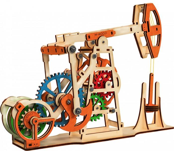 Конструкторы M-Wood деревянный MW-504 Нефтяная вышка (154 детали) каталог twinklbaby