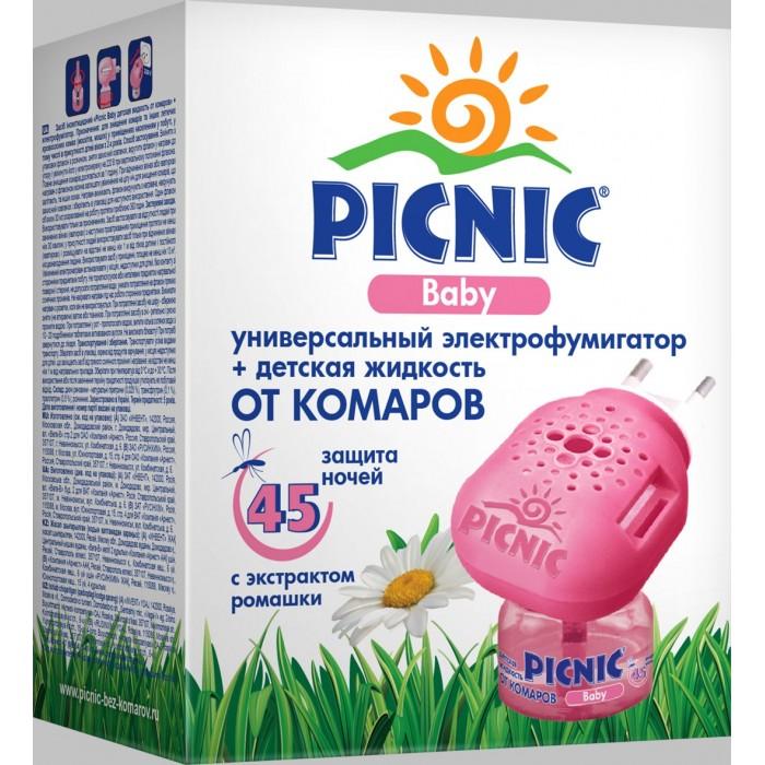 Средства от насекомых Picnic Электрофумигатор + жидкость от комаров 45 ночей 30 мл рейд электрофумигатор диффузного типа сменный блок 30 ночей